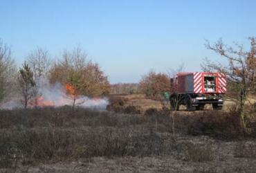 Brandfase oranje in Nationaal Park
