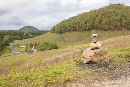 Steenmannetjespad in Thor Park